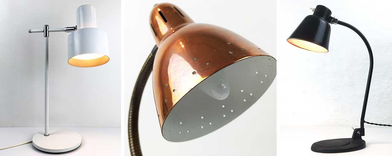 Webshop med Vintage og Retro Bordlamper